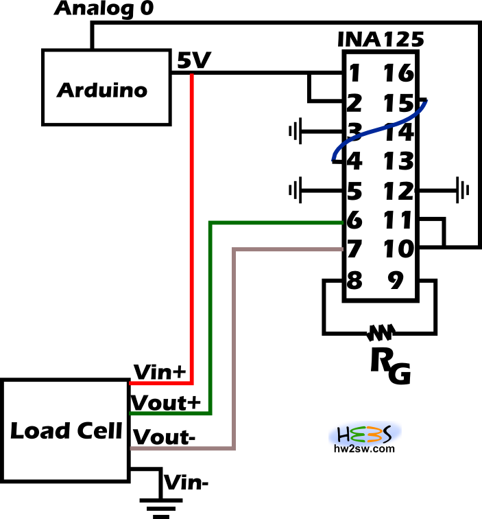 INA125 Arduino Connection problem with ina125 4 wire load cell wiring diagram at gsmx.co